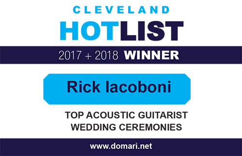 Cleveland HotList 2018 Winner - Top Acoustic Guitarist - Wedding Ceremonies